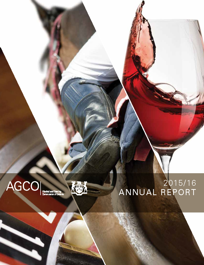 this is an image of the AGCO Annual Report 2015/16 cover
