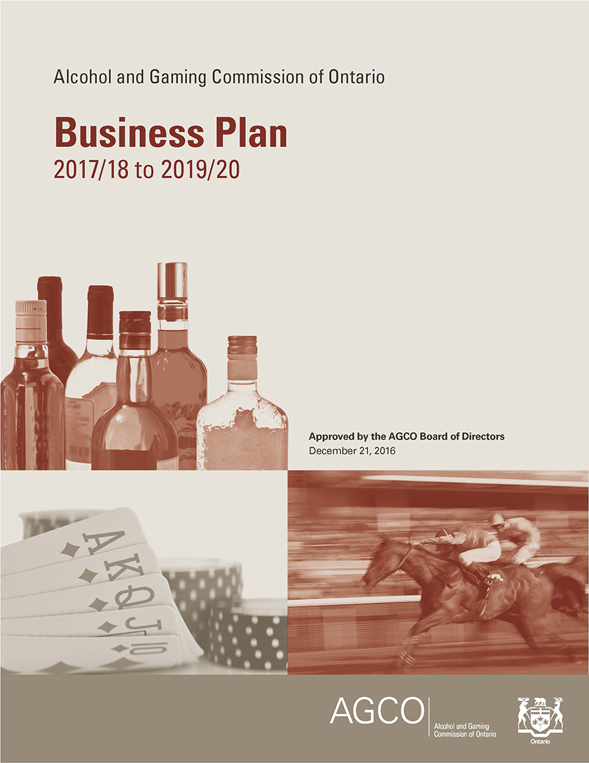 this is an image of the AGCO Business Plan 2017/18 to 2019/20 cover